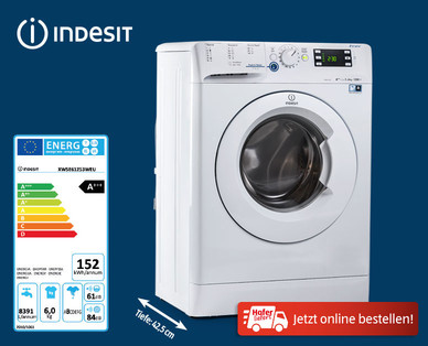 indesit waschmaschine slim line im hofer angebot. Black Bedroom Furniture Sets. Home Design Ideas