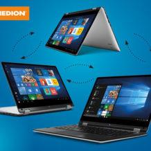 Medion Akoya E3216 MD 61350 360 Grad Notebook im Hofer Angebot