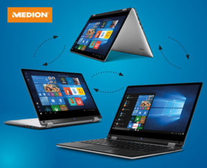 Medion Akoya E3216 MD 61400 360 Grad Notebook