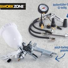 Hofer 24.9.2018: Workzone Zubehör-Set für 6 Liter Kompressor im Angebot
