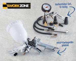 Workzone Zubehör-Set für 6 Liter Kompressor: Hofer Angebot ab 24.9.2018 - KW 39