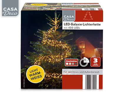 Aldi Süd: Casa Deco LED-Galaxie-Lichterkette im Angebot