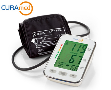 CURAmed Oberarm-Blutdruckmessgerät bei Aldi Süd ab 2.11.2017 erhältlich