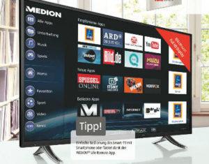 Medion Life X17024 42,5-Zoll Smart-TV-Fernseher im Angebot bei Aldi Süd