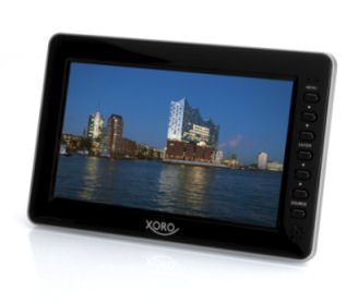Xoro Portabler 10-Zoll LCD-TV PTL 1010 mit DVB-T2 bei Real ab 16.10.2017 erhältlich