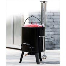 Activa Grillküche Emaillierter Eintopfofen / Gulaschkanone 14 Liter im Norma / Kaufland Angebot