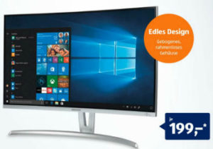 Medion Akoya P57850 27-Zoll Curved Monitor | Aldi Nord + Süd Angebot 24.10.2019 - KW 43