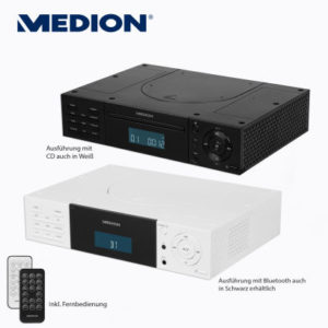 medion life e66265 stereo unterbauradio mit cd player bei. Black Bedroom Furniture Sets. Home Design Ideas