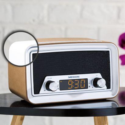 medion life e66333 retro uhrenradio hofer angebot ab 22. Black Bedroom Furniture Sets. Home Design Ideas