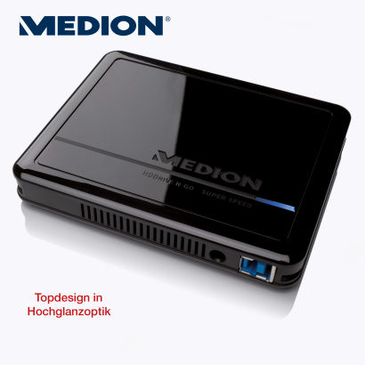 Medion P82780 MD 90213 1TB Externe Festplatte im Angebot bei Aldi Süd