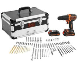 Black & Decker Akku-Schlagbohrmaschinen-Set