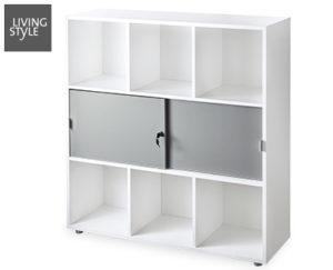 living style regal mit schiebet r im angebot bei aldi s d kw 52 ab. Black Bedroom Furniture Sets. Home Design Ideas