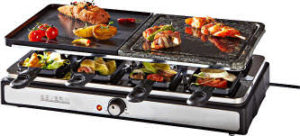Severin RG 2344 Raclette-Partygrill mit Naturgrillstein