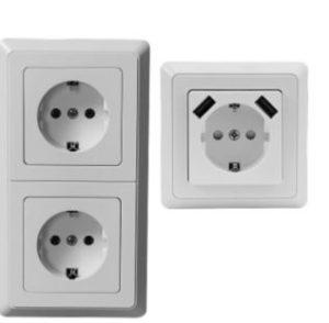Steckdosen-Set mit und ohne USB im Angebot bei Aldi Nord [KW 51 ab 18.12.2017]