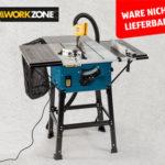 Aldi Süd 10.12.2018: Workzone Tischkreissäge im Angebot