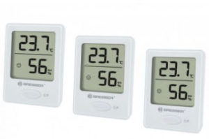 Bresser Digitales Thermometer Hygrometer 3er-Set