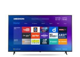 Medion Life X16515 MD31281 Ultra-HD Smart-TV Fernseher im Angebot bei Aldi Süd [KW 4 ab 25.1.2018]
