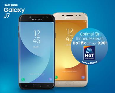 Hofer 28.5.2018: Samsung Galaxy J7 2017 DUOS Smartphone im Angebot