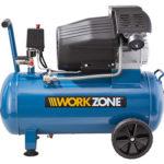 Aldi Süd 18.3.2019: Workzone 50 L Kompressor im Angebot