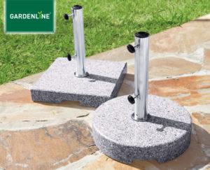 gardenline sonnenschirm und granit sonnenschirmst nder im aldi s d angebot kw 12 ab 22. Black Bedroom Furniture Sets. Home Design Ideas