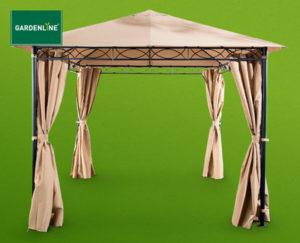 gardenline stahl pavillon hofer angebot ab 5 kw 14. Black Bedroom Furniture Sets. Home Design Ideas