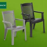 Hofer 21.3.2019: Gardenline Stapelsessel und Gartentisch im Angebot