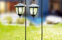 i-Glow LED-Solar-Laterne 2er-Set