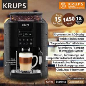 Norma » Krups EA815B Digitaler Kaffeevollautomat im Angebot