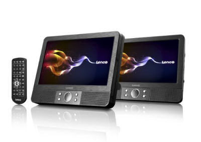 Lenco MES-403 Mobiles DVD-Set mit zwei 9-Zoll Bildschirmen im Real Angebot ab 26.3.2018 – KW 13