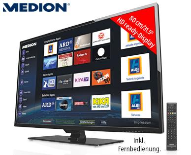 Medion Life P15186 MD 30915 31,5-Zoll Smart-TV Fernseher im Angebot bei Aldi Süd [KW 25 ab 18.6.2015]