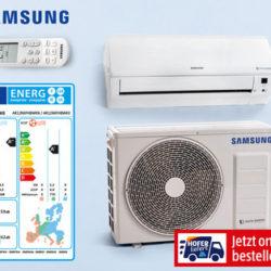 Hofer 28.3.2019: Samsung Inverter-Split-Klimagerät Single im Angebot