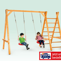 Schaukelgestell aus Holz im Hofer Angebot ab 8.4.2019
