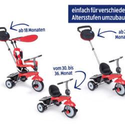 Smartrike Dreirad mit Schubstange: Hofer Angebot ab 8.4.2019 - KW 15