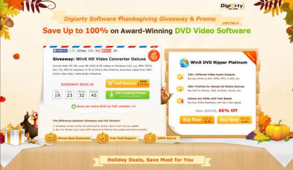 WinX HD Video Converter Deluxe   Durch Black-Friday Angebot zurzeit KOSTENLOS!
