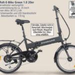 Zündapp Alu-Falt-E-Bike Green 1.0 20er: Real Angebot ab 23.7.2018 – KW 30