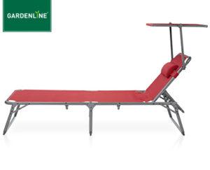 Gardenline Aluminium-Dreibeinliege Rot