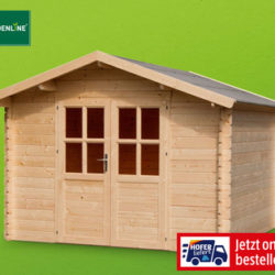 Gardenline Gartenhaus XL im Hofer Angebot ab 18.4.2019