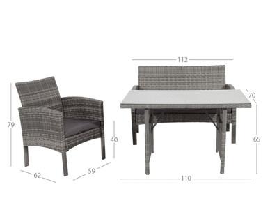 Hofer 9.5.2019: Gardenline Lounge Set Imperia im Angebot