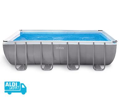 intex frame pool set ultra quadra im hofer angebot bis 31. Black Bedroom Furniture Sets. Home Design Ideas