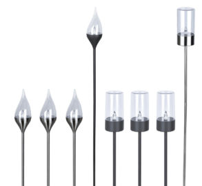 LightZone Edelstahl Solarfackeln
