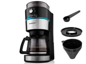 Silvercrest SKML 1000 A1 Kaffeemaschine LED mit Mahlwerk