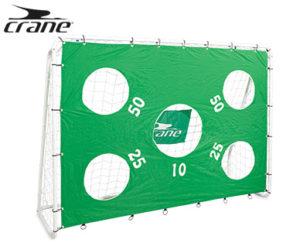 Crane Fußballtor mit Torwand und Netz