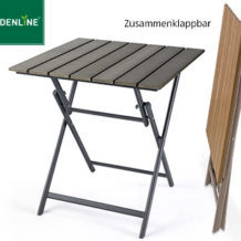 gardenline alu gartentisch mit kunststoffplatte in holz optik im angebot bei aldi s d ab 17 5. Black Bedroom Furniture Sets. Home Design Ideas
