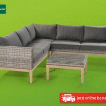 Hofer 5.3.2020: Gardenline Lounge-Garnitur Salvador im Angebot