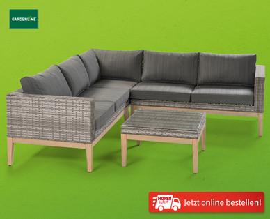 gardenline salvador lounge garnitur im hofer angebot bis. Black Bedroom Furniture Sets. Home Design Ideas