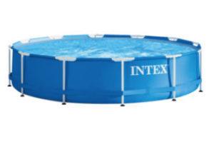 Intex Swimming-Pool mit Metallrahmen