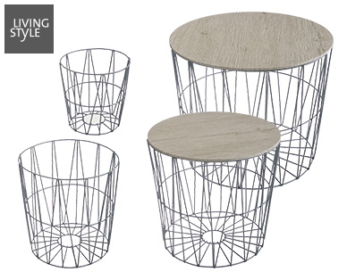 Living Style Design-Drahtkörbe 4er-Set