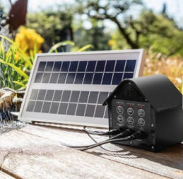 Mauk Solar-Teichpumpen-Komplett-Set