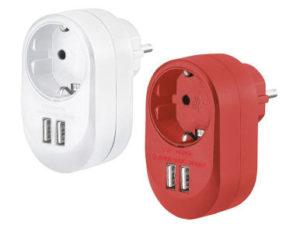 Silvercrest USB-Steckdosenadapter