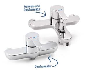 Wannen und Duscharmatur